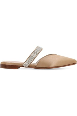 ZYNE Dames Clogs - 10mm Embellished Satin Mules