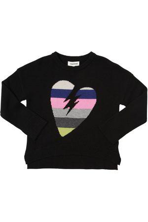 Zadig & Voltaire Meisjes Sweaters - Heart Intarsia Wool Blend Knit Sweater