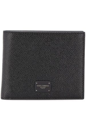 Dolce & Gabbana Heren Portefeuilles - Logo plaque bi-fold textured wallet