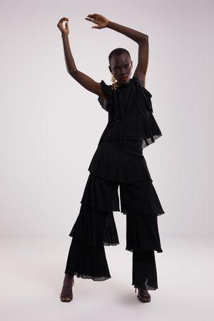 Zara Tricot top met volants