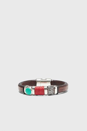 Zara Leren combi-armband met koordaccent