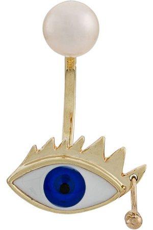 DELFINA DELETTREZ 9kt yellow Eye Piercing earring