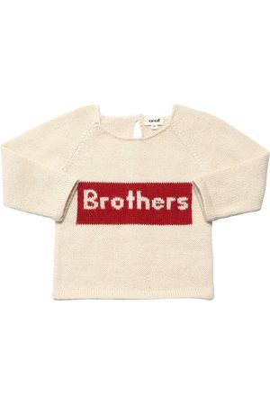 OEUF Jongens Sweaters - Brothers Baby Alpaca Knit Sweater
