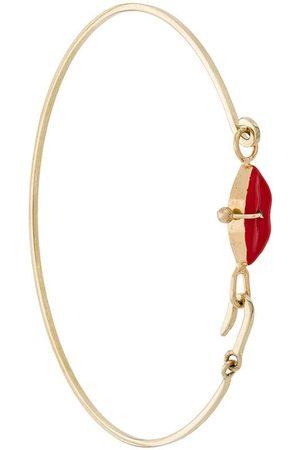 DELFINA DELETTREZ 9kt yellow Grandma Lips bracelet