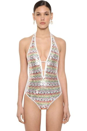 Missoni Shiny Sequined Lycra One Piece Swimsuit