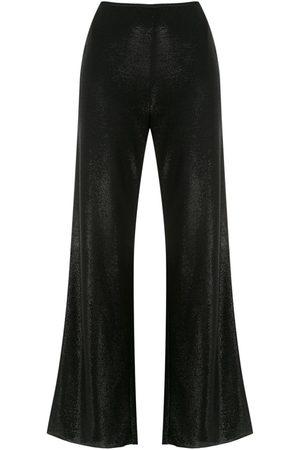 Emporio Armani Shiny palazzo trousers