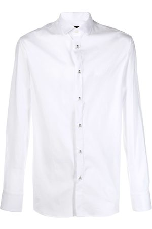 Philipp Plein Heren T-shirts - Skull and crossbones button shirt