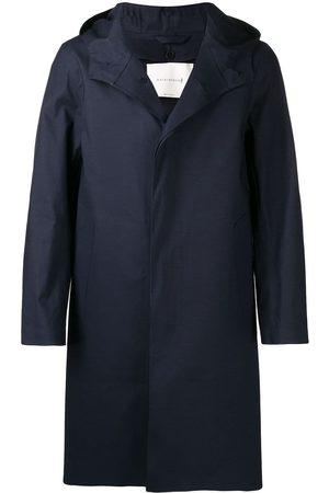 MACKINTOSH CHRYSTON Navy Bonded Cotton Hooded Coat GR-1003D