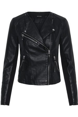 Vero Moda Leatherlook Jas Dames Zwart