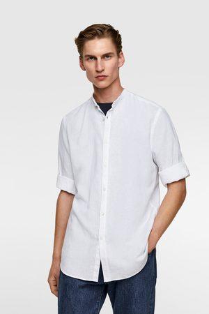 Zara Heren Hemden - Rustiek overhemd met maokraag