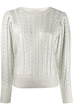 Msgm Metallic cable knit jumper