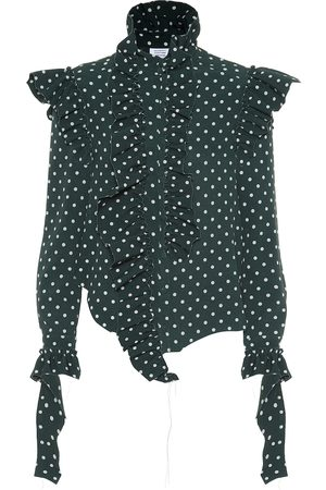 Vetements Dames T-shirts - Polka dot crêpe shirt