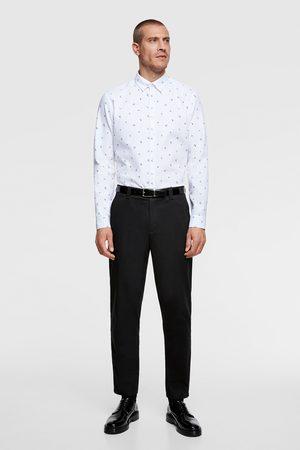 Zara Heren Hemden - Easy care gestructureerd overhemd met bloemenprint