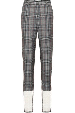 Y / PROJECT Checked wool-blend high-rise pants