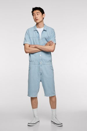 Zara Heren Jumpsuits - Korte denim jumpsuit