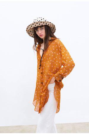 Zara Dames Blouses - Overhemd met stippenprint