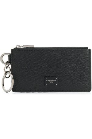 Dolce & Gabbana Heren Portemonnees - Logo plaque zipped cardholder