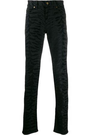 Saint Laurent Zebra printed skinny jeans