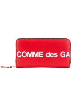 Comme des Garçons Rectangular logo print wallet