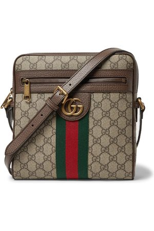 Gucci Ophidia Leather-trimmed Monogrammed Coated-canvas Messenger Bag