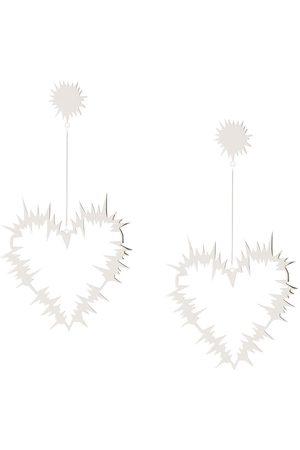 Karen Walker Electric Heart drop earrings