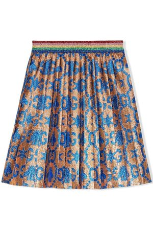 Gucci Children's GG bees and stars jacquard skirt