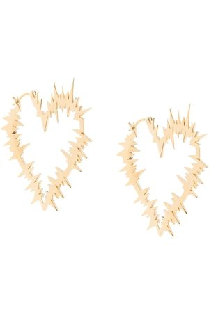 Karen Walker Electric Heart hoop earrings