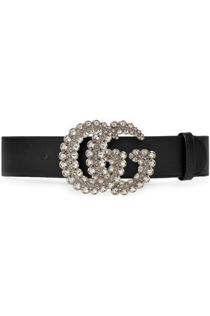 Gucci GG crystal leather belt