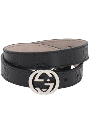 Gucci Meisjes Riemen - Embossed Interlocking G Leather Belt