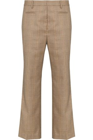 R13 Checked cropped trousers
