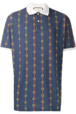 Gucci Horsebit chain print oversized polo shirt