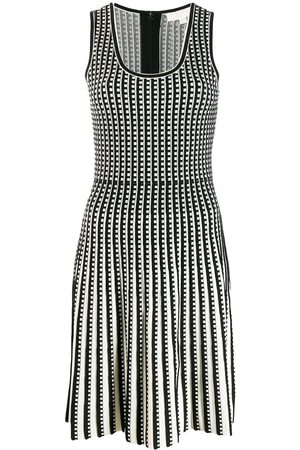 Michael Kors Dames Gebreide jurken - Checked knitted dress