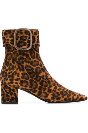 Saint Laurent Leopard print ankle boots
