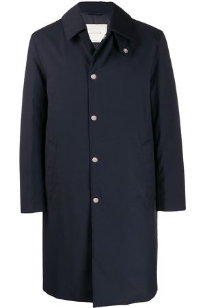 MACKINTOSH DUNKELD Navy Storm System Wool THINDOWN 3/4 Coat GM-1001TD