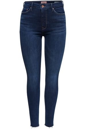 Only Onlpaola High Waist Skinny Jeans Dames Blauw