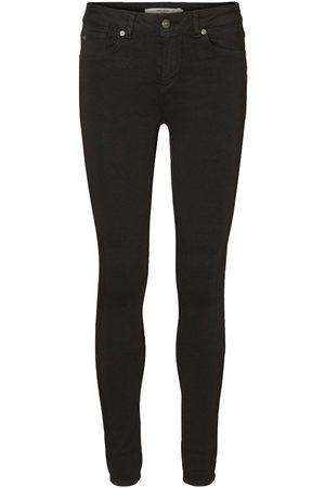 Vero Moda Lux Regular Waist Slim Fit Jeans Dames Zwart