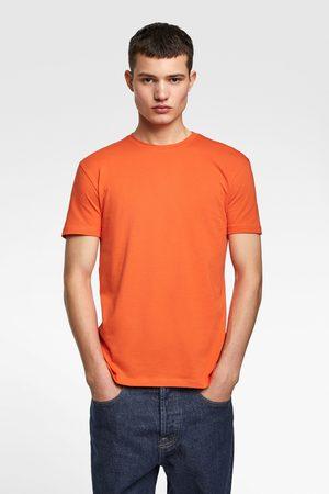 Zara Heren T-shirts - Basic t-shirt in slim fit