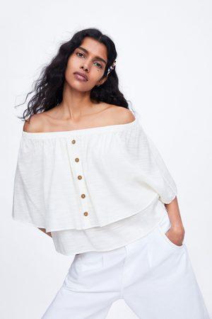 Zara Dames Tops & T-shirts - Top met capemouwen