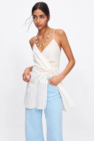 Zara Dames Tops & T-shirts - Gestreepte top met spaghettibandjes