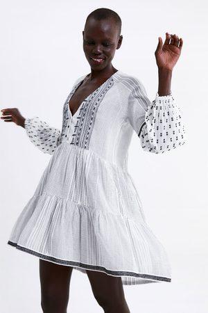 Zara Dames Jurken - Geborduurde jurk