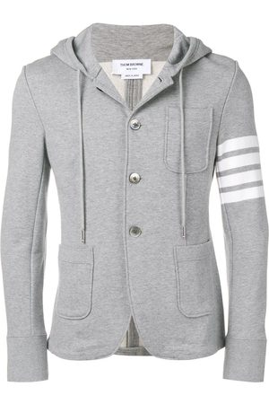 Thom Browne 4-bar Loopback Hooded Sport Coat