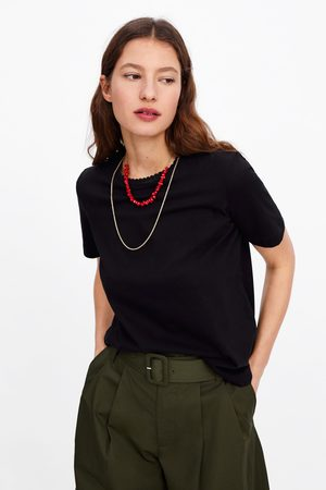 Zara T-shirt met combi-sjaal