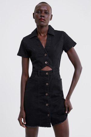 Zara Denim jurk met knopen