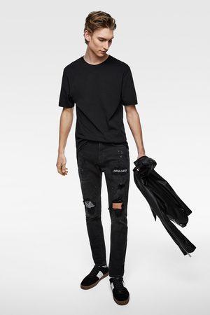 Zara Skinny denim broek met bandanapatch