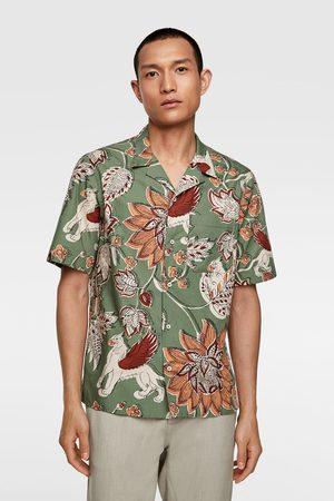 Zara Heren Hemden - Popeline overhemd met bloemenprint