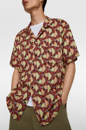 Zara Heren Hemden - Overhemd met geometrische print