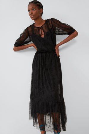 Zara Dames Jurken - Plumetis jurk