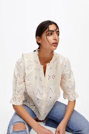 Zara Dames Tops & T-shirts - Top met opengewerkte borduursels