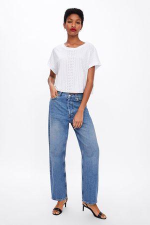 Zara Dames T-shirts - T-shirt met structuur