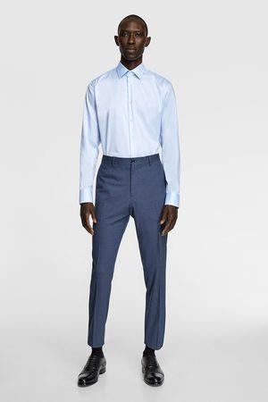 Zara Heren Hemden - Kreukvrij overhemd met structuur